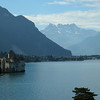 Chateau de Chillon in Lac Leman