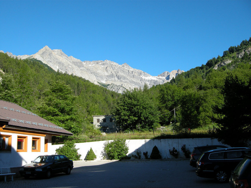 View from Hotel Europa in Bardonecchia