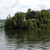 Little fortified island on small lake near Schwyz