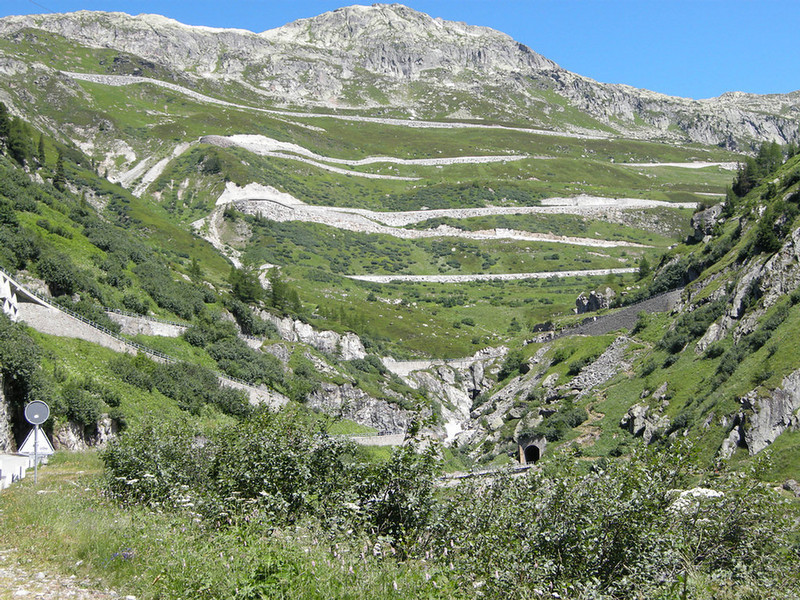 Grimsel Pass road from below Gletsch