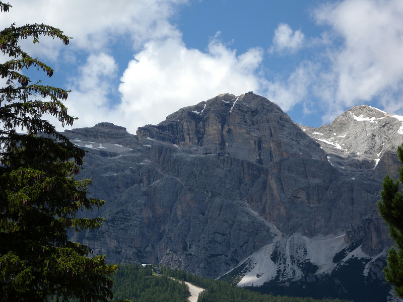 Tofana di Mezzo in Cortina - a series of 3 cable cars to get to the top