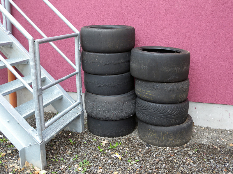 Stacked behind my hotel in Adenau.