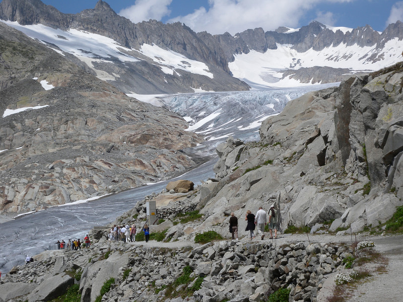 (What's left of) the Rhone Glacier