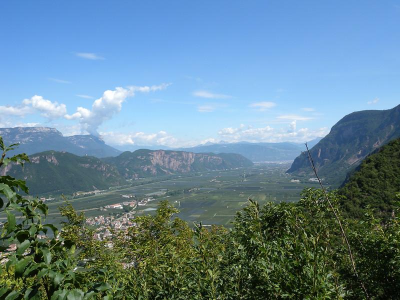 Looking north up the Adige valley towards Bolzano