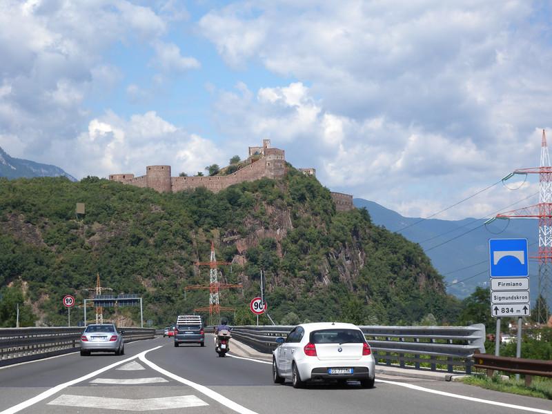 Just west of Bolzano