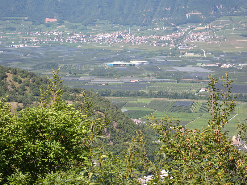 Looking north up the Adige valley towards Bolzano