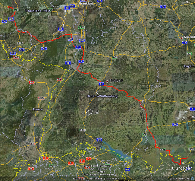 Riding day 12: Garmisch - Spangdahlem