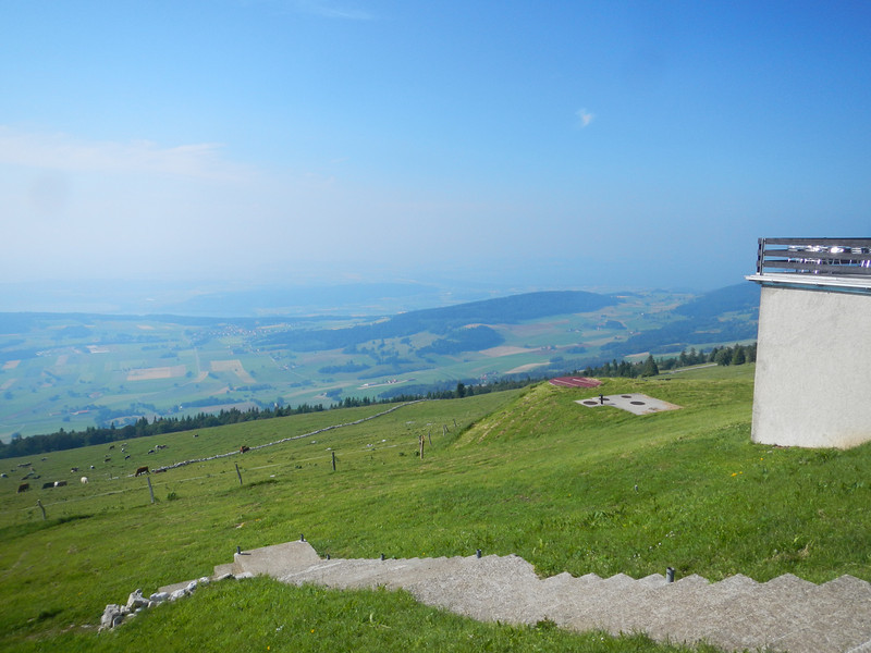 View from the Chasseral above the Col du Chasseral.