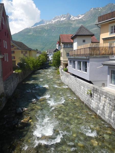 Reuss river - looking downstream