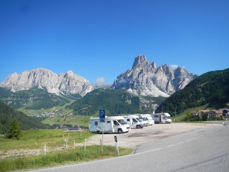 Passo Gardena from the Campolongo road