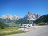 Passo Gardena from the Campolongo road