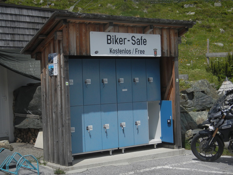 Just the place to stash your tankbag, helmet & jacket.