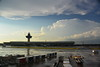 After the storm at Dulles. Departure delayed 90 minutes. Baggage took an extra day to make it to Frankfurt.