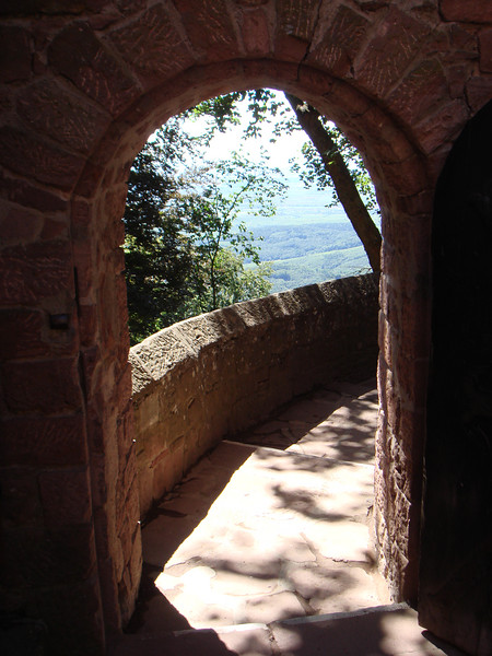 A view from Haut-Koenigsbourg, a 19th century restoration of an older castle in Alsace, France.