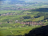 "View of the ""Route du Vin,"" very picturesque vineyard villages in Alsace.  Some German king reportedly said on first seeing Alsace, ""What a beautiful garden!"""
