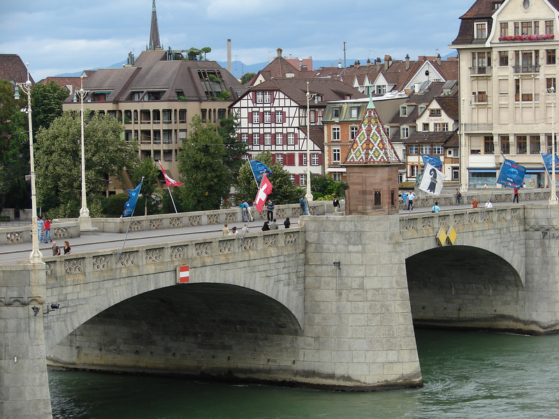 Bridge over the Rhine in Basel, Switzerland.