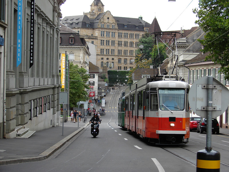 A Sunday afternoon in downtown Basel, Switzerland.