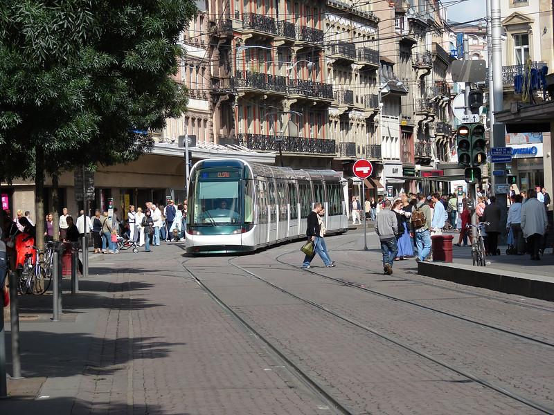 Strasbourg has a very nice, new light rail system.