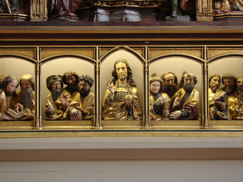 A small part of the famous Issenheim altar at the Unterlinden Museum in Colmar, Alsace, France.