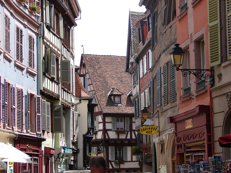Street in Colmar, Alsace, France.