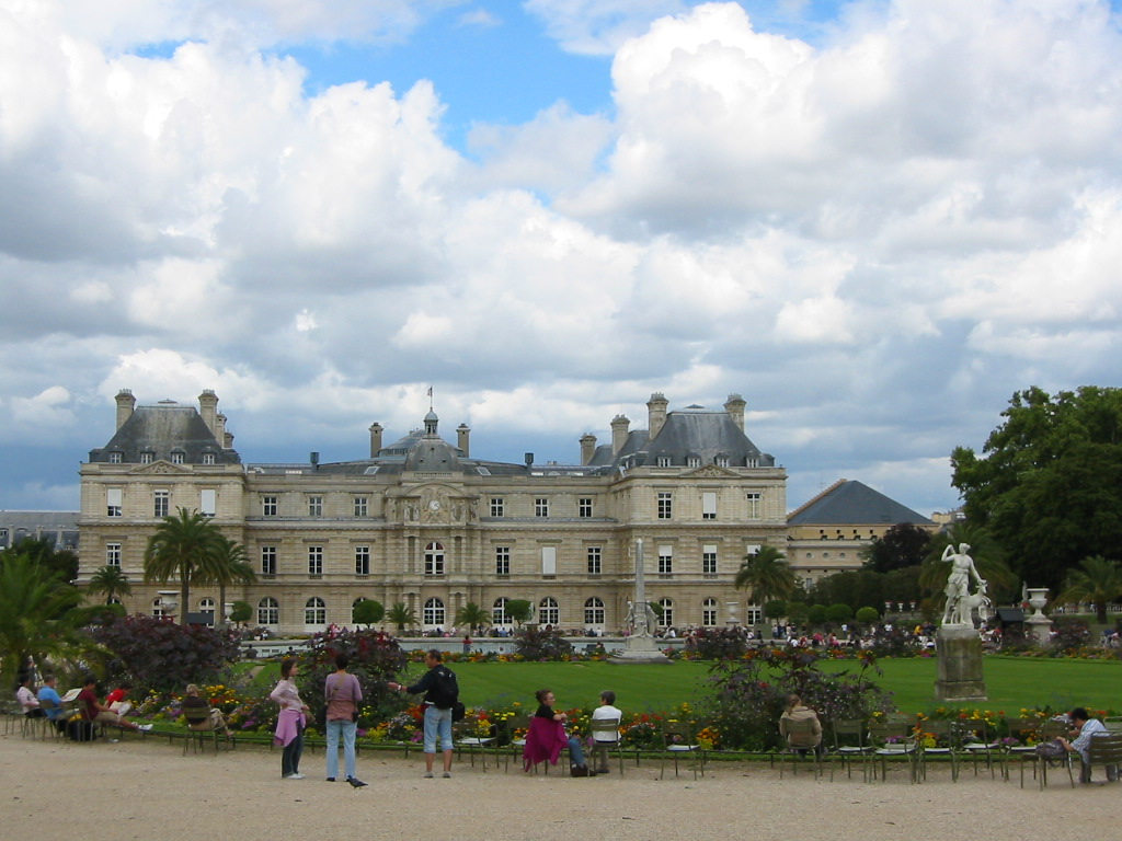The Palace at Luxembourg Gardens. Pretty sky!
