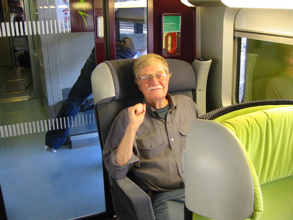 Rod enjoying the TGV