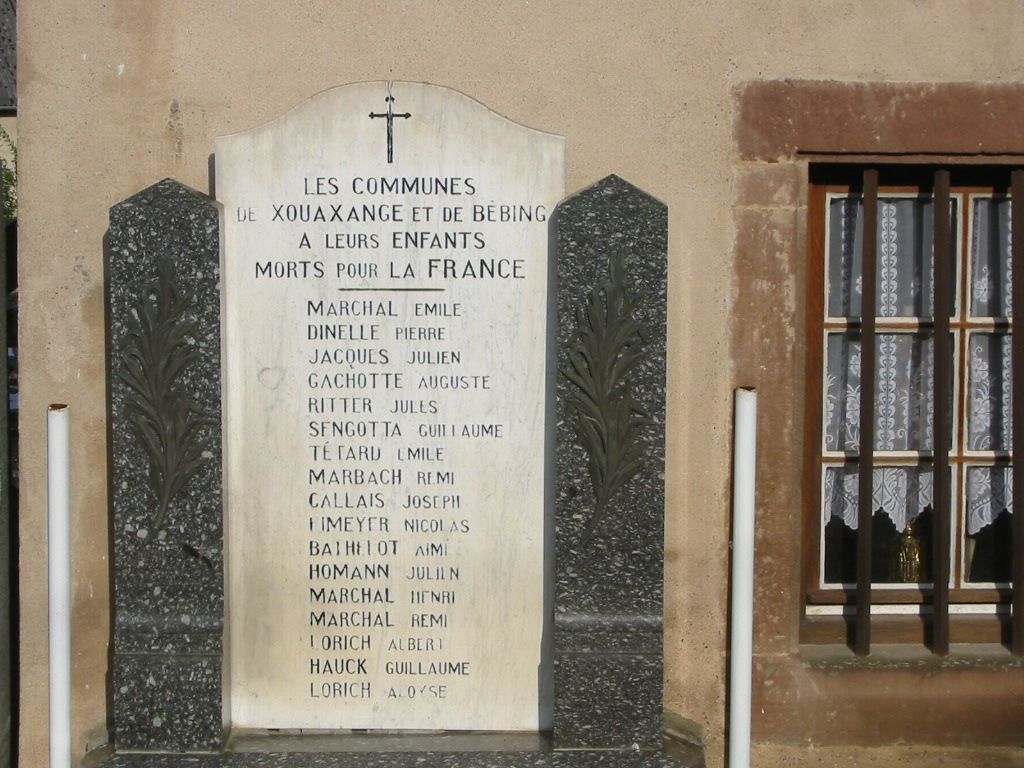 Memorial to Morts pour la France. Every town and village has one.