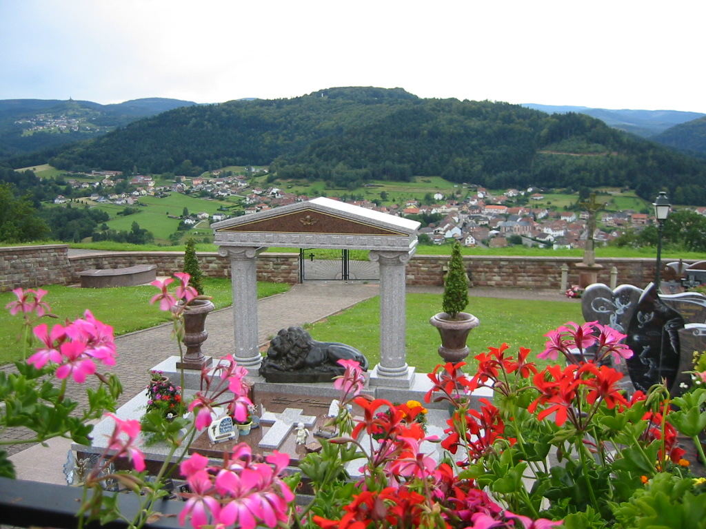 Our driver/guide took us up the hill for this lovely view from the cemetery.