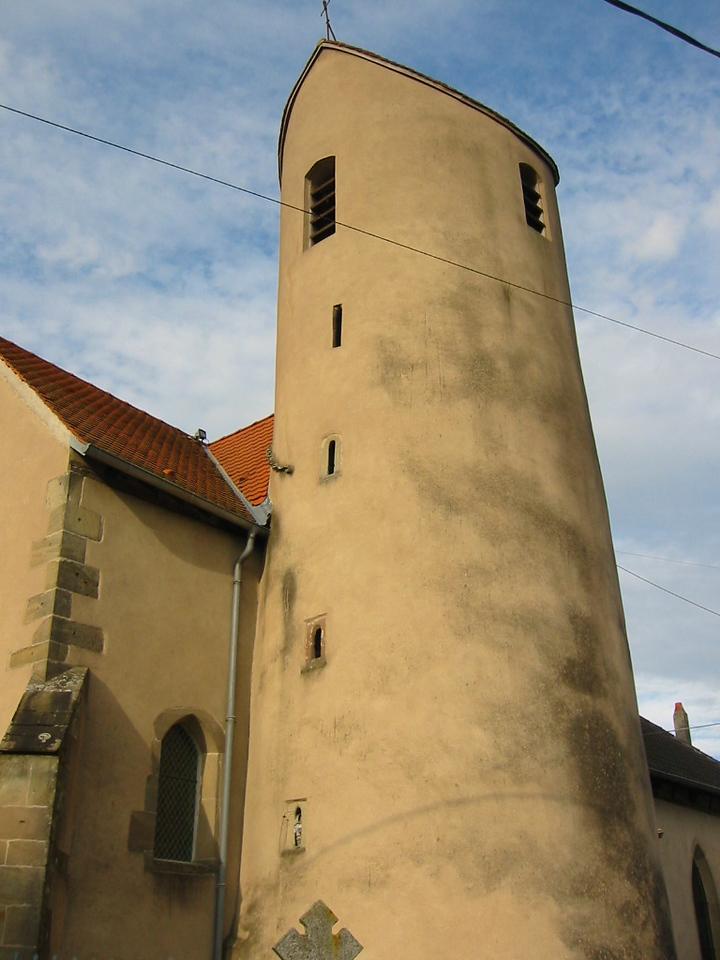 church tower looks like a silo