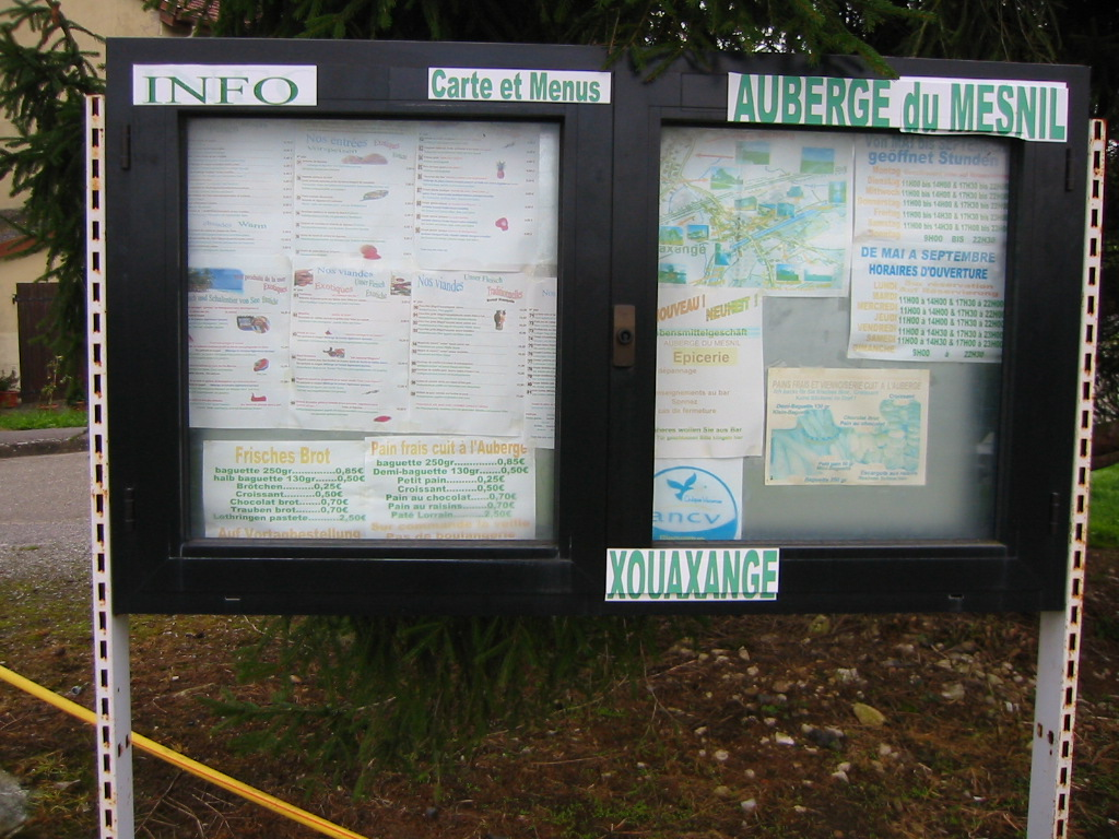 The village information board in Xouaxange.