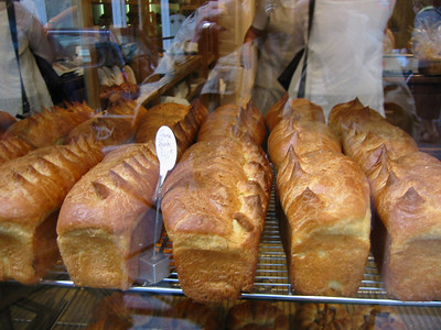 Freshly baked loaves at Poelaine, one of the best in Paris.