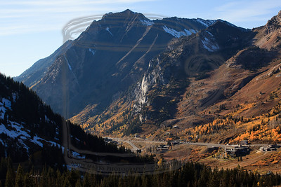 """We gained altitude quickly. In the distance, Mt. Superior towering over the """"no snowboarding"""" town of Alta, UT."""