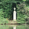 This memorial to Diana, Princess of Wales was erected on the island in the lake. Diana is buried on the island.