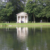 The memorial to Diana, Princess of Wales. Seen here from across the lake.The Diana