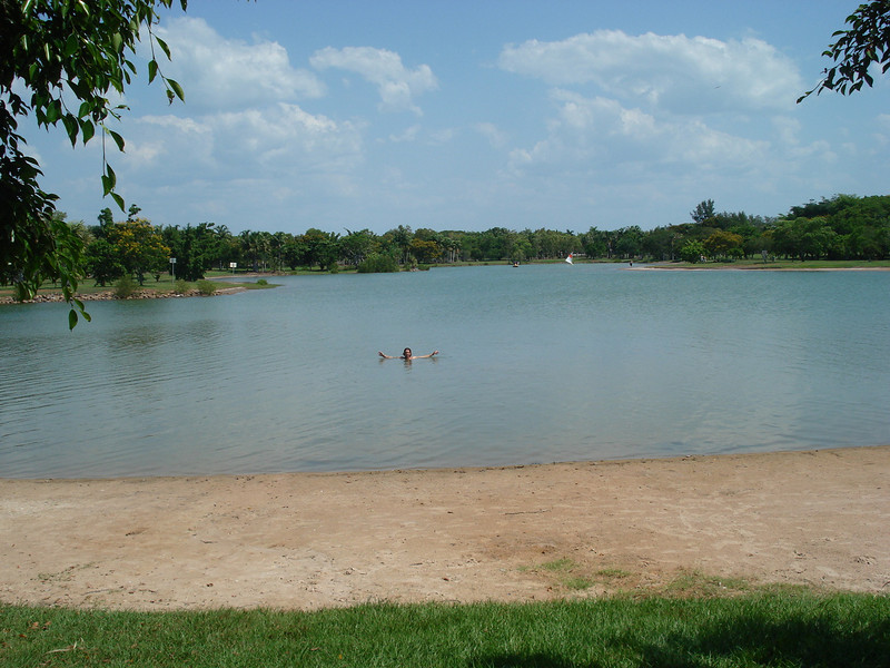 Lake in Darwin...And over 40 degrees!