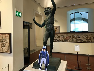 Blue Devil at Archeological Museum Naples Italy