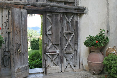 Weathered Doors of a Villa