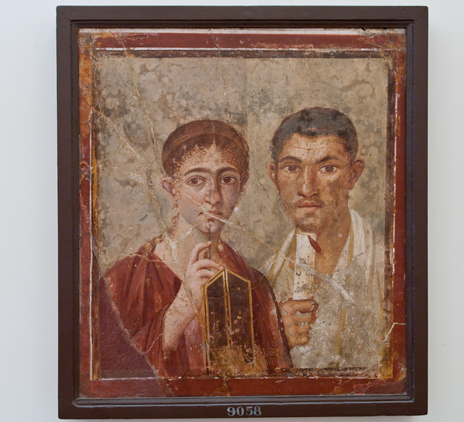 Portrait of the baker, Terentius and his wife