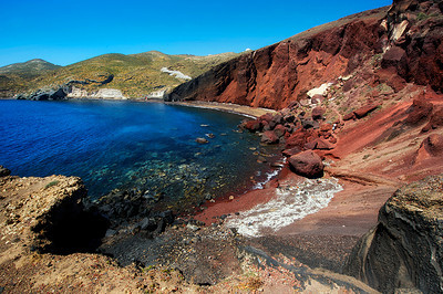 Red sand beach lived up to it's name. A short hike from the main road, we encountered a young woman selling jewelry along the trail. She was very bashful and sweetly declined our request to take her picture. I'm not sure I've ever seen anyone so completely at ease. There amongst the rocks, with a warm breeze blowing in from the water, it was easy to imagine leaving life behind for a life of selling handmade jewelry by the red sand cliffs.