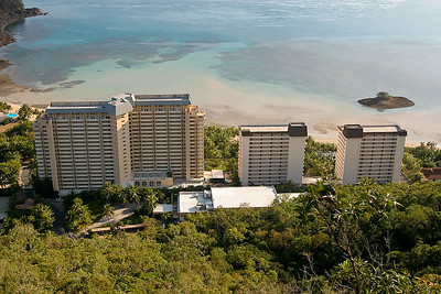 Hamilton Island. Reef View Hotel as seen from the Resort Lookout.