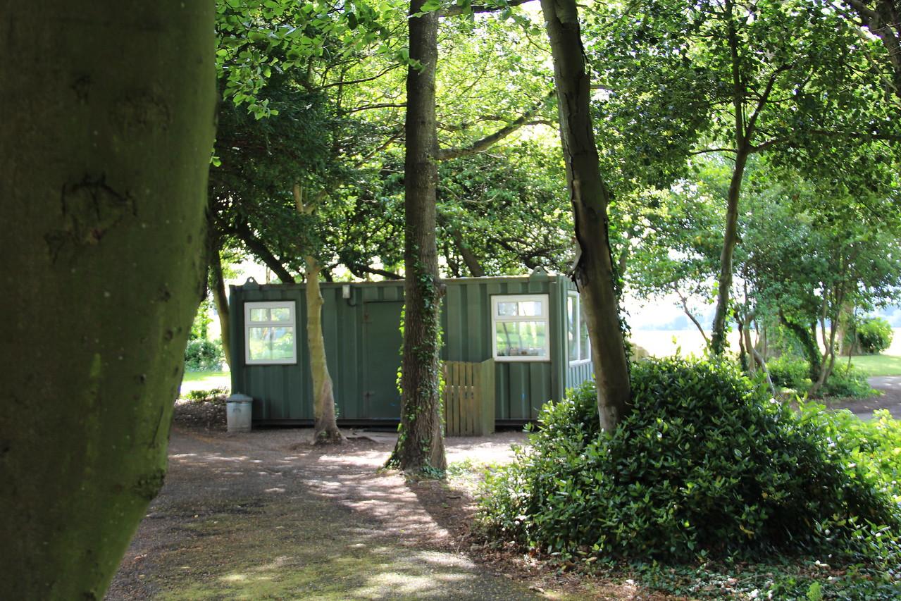 Security hut.