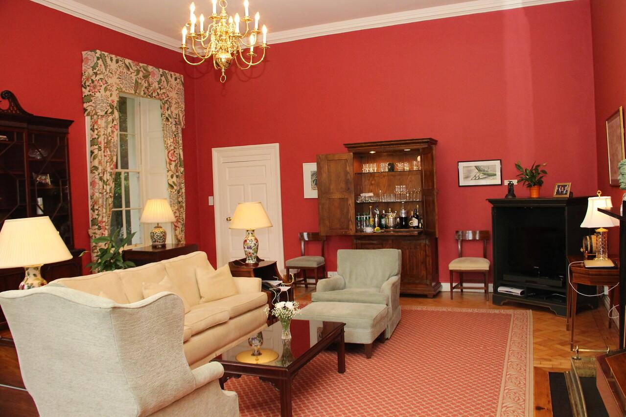 The informal living room.