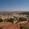 Amazing view over road through Grand Staircase-Escalante National Monument