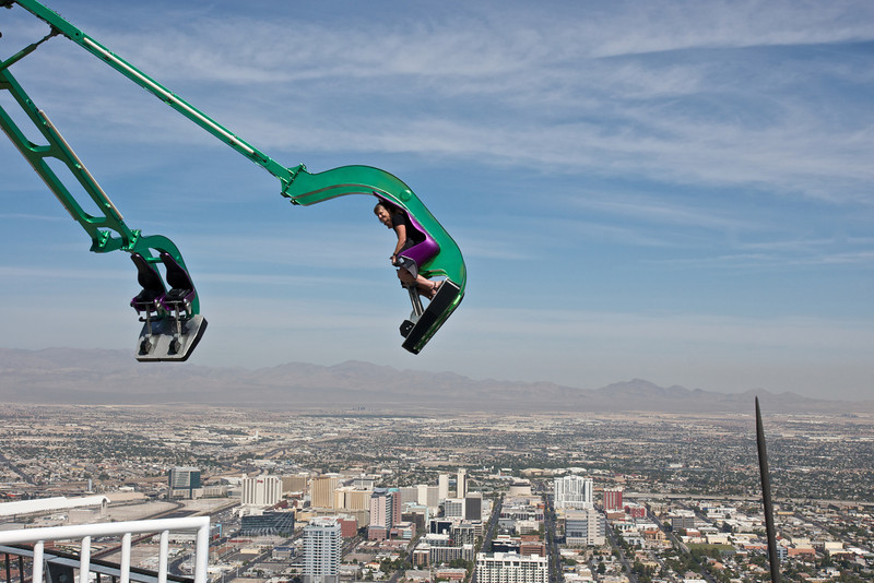"The aptly named ""Insanity"", at 900ft the 2nd highest thrill ride in the world"