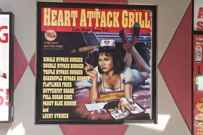 Heart Attack Grill Freemont Street, Las Vegas, Nevada