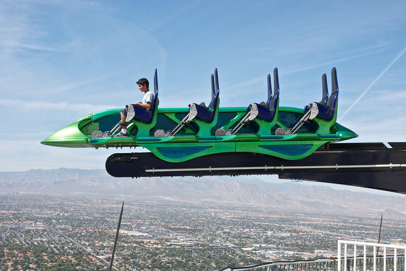 "The ""X-scream"", the 3rd highest thrill ride in the world on the Stratosphere, Las Vegas"