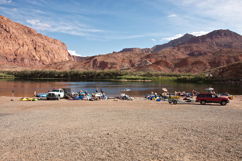 Lees Ferry, departure point for rafting trips on Colorado River