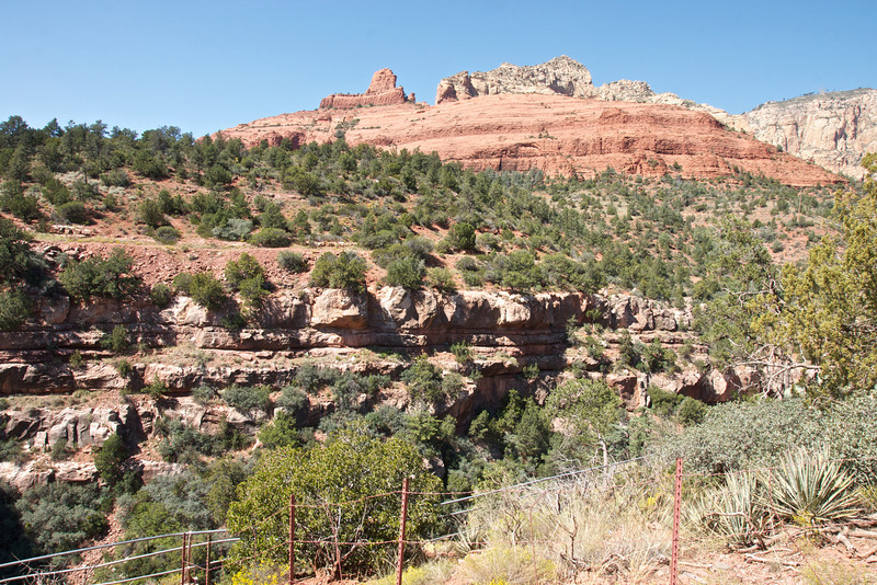 View from Oak Creek Vista Point, State Route 89A(scenic roadway) from Flagstaff to Sedona through Oak Creek Canyon