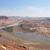 Hite Scenic Overlook , first view of Colorado River
