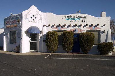 Historic Route 66 ,Albuquerque, The El Vado Motel is one of the best examples of a largely unaltered pre-World War II tourist court